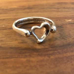 Tiffany's Elsa Peretti Open Heart Ring